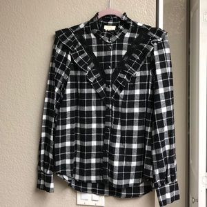 NWT Kate Spade flannel shirt size M